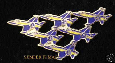 Us Navy Marines Blue Angels F18 Hornet Delta Formation Hat Pin Pilot Airshow Wow