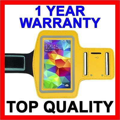 YELLOW Sports Gym Armband Arm Band Running Case for Samsung Galaxy S5 S4 S3 S2