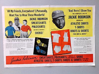 Jackie Robinson Underwear ad from 1950 African-American Magazine +Clarence Muse