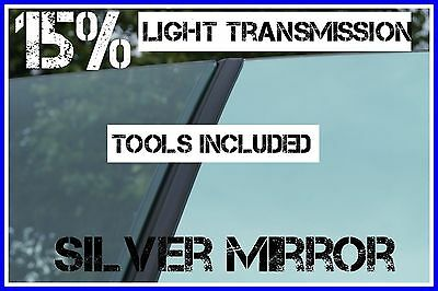 SILVER MIRROR 85% DARKER CAR WINDOW TINTING FILM 6m X 75cm ROLL TINT + FREE KIT