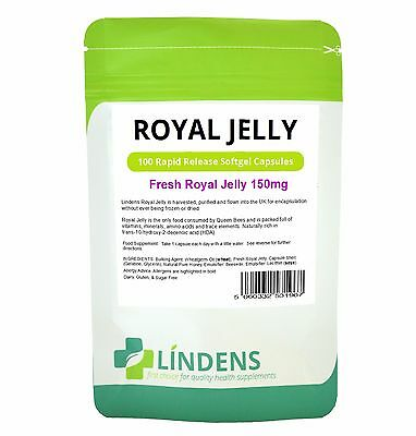 Fresh Royal Jelly 150mg; 100 capsules; one-a-day