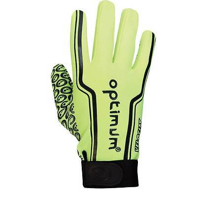 New Optimum 'Velocity' Full Finger FLUO Optimum Stik Mitt Rugby Gloves