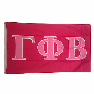Gamma Phi Beta Dark Pink/Light Pink Letter Flag 3' x 5'