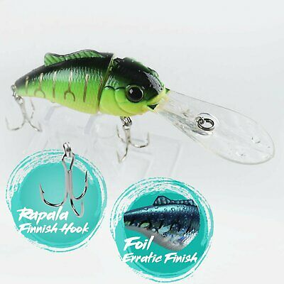 Fishing Lure Hook YY 2.75 Rattle Bill Crankbait for Bass Tackle - Green