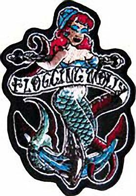 Flogging Molly Mermaid Embroidered Patch