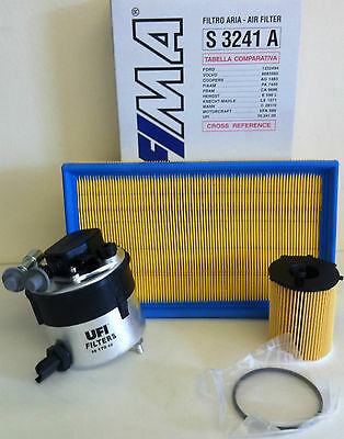For Ford Focus Mk2 1.6 Tdci 10/05   03/07 Diesel Service Kit Oil Air Fuel Filter