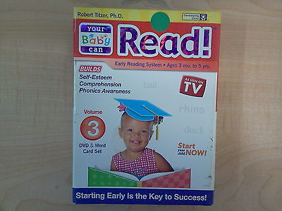 Your Baby Can Read! Volume 3 Early Reading System DVD & Word Card Set