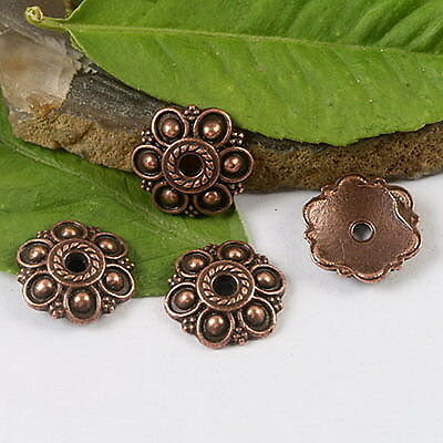 30pcs copper-tone flower charms findings h1380