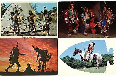4 Postcards of American Indians
