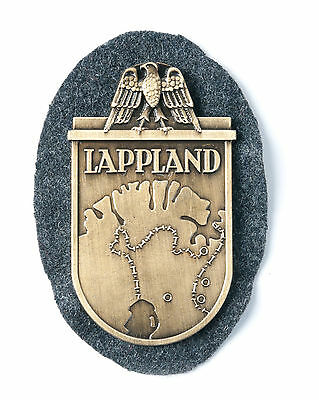 Wwii Lappland Shield Plaque Metal Badge-33668