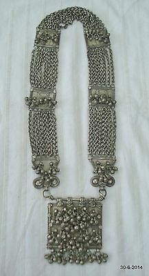 vintage antique collectible old silver necklace handmade indiantribal jewelry