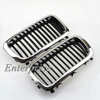 Chrome For BMW E38 740/750 7 series 95-98 Sedan 4-Door Front Kidney Grill Grille