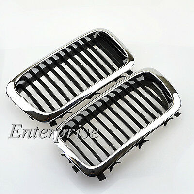 Chrome Front Kidney Grill Grille For BMW E38 740/750 7 series 95-01 Sedan 4-Door