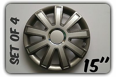 """Set Of 4 15"""" Wheel Trims To Fit Ford Transit Connect Tourneo+ Free Gift #9"""