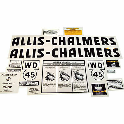 Decal Set, Allis Chalmers WD45