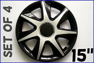 """Set Of 4 15"""" Wheel Trims To Fit Vw Golf V, Golf Vi, Polo + Free Gift #8"""