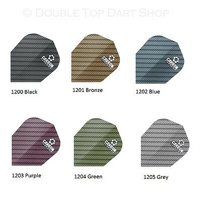 Harrows Carbon Extra Strong Dart Flights - 5 Sets (15 Flights) 100 Micron Thick