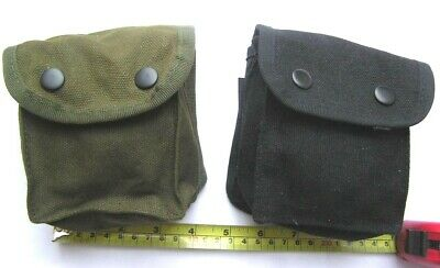 Police Security Service Army Style Utility Belt Pouch Green Or Black
