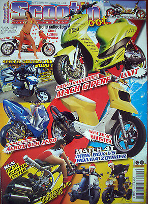 SCOOT'N SCOOT N° 159 Janvier 2008 Kymco Super 9, 4T MBK Box vs Honda Zoomer...