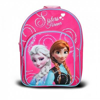 Official Disney Frozen Forever Sisters Glitter Rucksack Backpack Brand New Gift