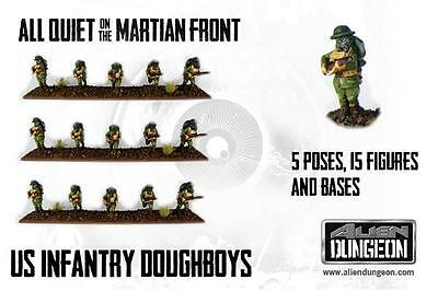 All Quiet on the Martian Front US Infantry Squad 15 Figures