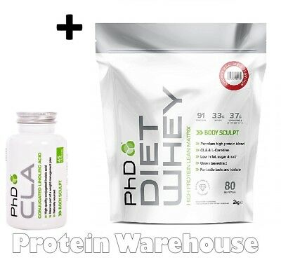 PhD Nutrition Diet Whey 2kg + PhD CLA 45 Caps Weight Loss Lean Slimming Shake