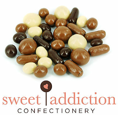 500g Premium White Milk and Dark Chocolate Covered TV Mix - Assorted Choc Sweets
