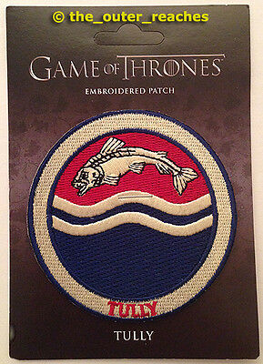 """Game of Thrones HOUSE OF TULLY of Riverrun Sigil 3"""" Official Embroidered Patch"""