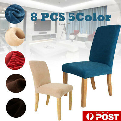 8Pcs Super Fit Protector Removable Covers Stretch Washable Dining Chair Cover