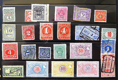 WORLDWIDE Military Postage Dues/Railway Stamps 25 Different SALE PRICE BIN1942