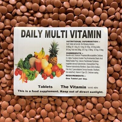 "MULTI VITAMINS DAILY 365 tablets ""NEW, NOW COATED""   (L) FREE POSTAGE"