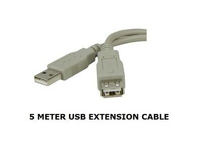 USB 2.0 Extender Lead GREY Extension Cable Type A Male to Female 12cm Up To 5m