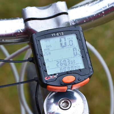 Cycling Bicycle Bike 24 functions LCD Computer Odometer Speedometer Backlight