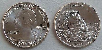 USA Quarter America the Beautiful - Arches-Nationalpark P 2014 unz.