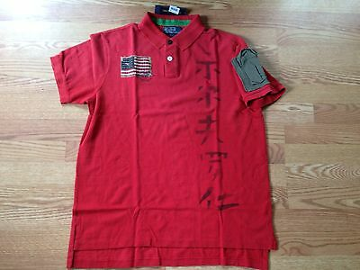 Shirt S Chinese Asian Polo Rugby Red Usa American Ralph Japanese Lauren Flag OXuwZiTlPk