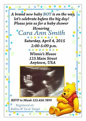Baby shower Invitation, Winnie the Pooh Baby Shower Invitation