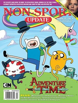 Non-Sport Update Aug/Sep '14 Adventure Time cover with 5 free promo cards