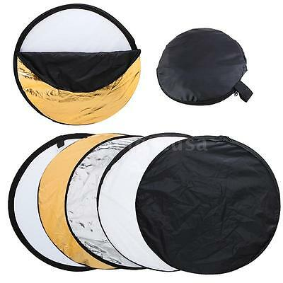 """US 32"""" 80cm 5in1 Photography Studio Multi Photo Disc Collapsible Light Reflector"""