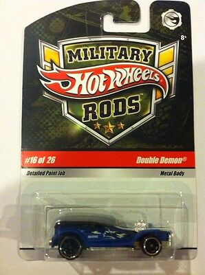 Hot Wheels Military Rods DOUBLE DEMON #16 of 26 Rare