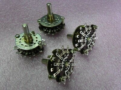 2x Alps SRY1044 ROTARY SELECTOR SWITCH Wafer 4 POLE 4 POSITIONS 32mm PANEL MOUNT