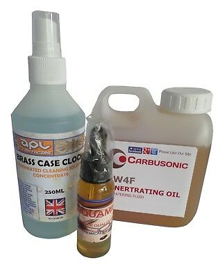clock cleaning fluid concentrate - combo maintenance pack clock oil