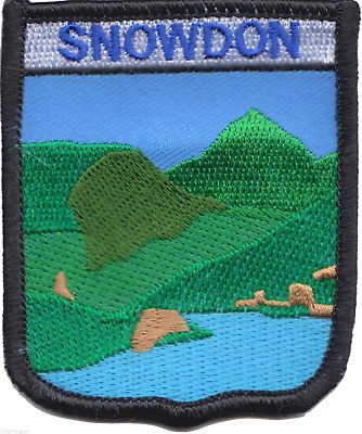 Mount Snowdon Snowdonia National Park Wales Flag Embroidered Patch Badge