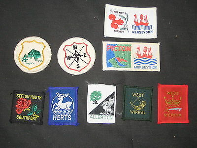 Lot of 9 District & City Patches, Worldwide      EB01 #2