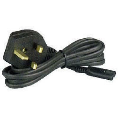 Figure 8 Mains Lead 42cm C7 3A Fused Plug Black Loose
