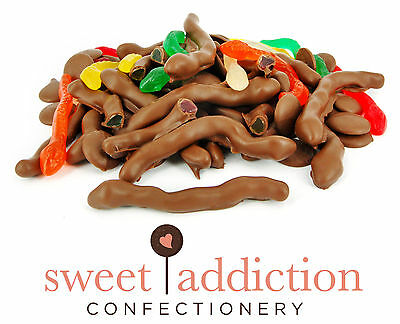 750g Premium Milk Chocolate Covered Snakes - Bulk Party Lollies AUSTRALIAN MADE