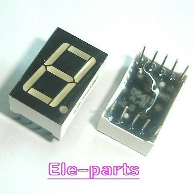 "10 PCS 1 Digit 0.56"" GREEN 7 SEGMENT LED DISPLAY COMMON ANODE 10 Pins new"