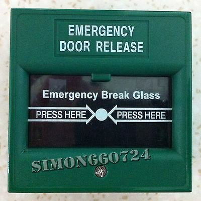 911 Emergency Glass Break Alarm Button for Fire and Emergency-GREEN