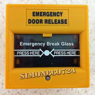 911 Emergency Glass Break Alarm Button for Fire and Emergency-YELLOW