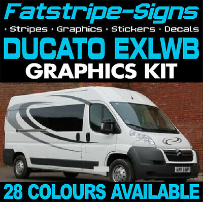 Fiat Ducato L4 Exlwb Graphics Stickers Stripes Decals Day Van Camper Motorhome