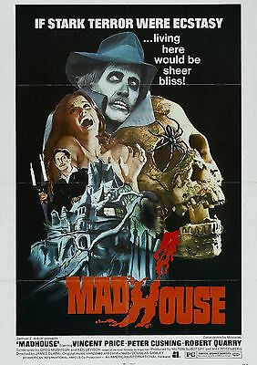 Madhouse - Vincent Price - Peter Cushing - A4 Laminated Mini Poster